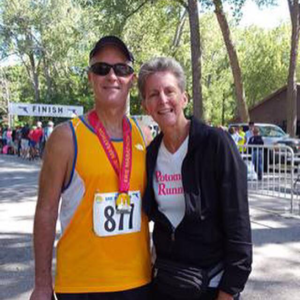 Steve (with his wife Joanne) on his 20th marathon - Erie, PA (2016)