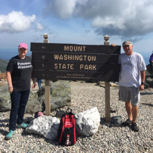 Cynthia and Victor at Mt Washington State Park in New Hampshire (2016)